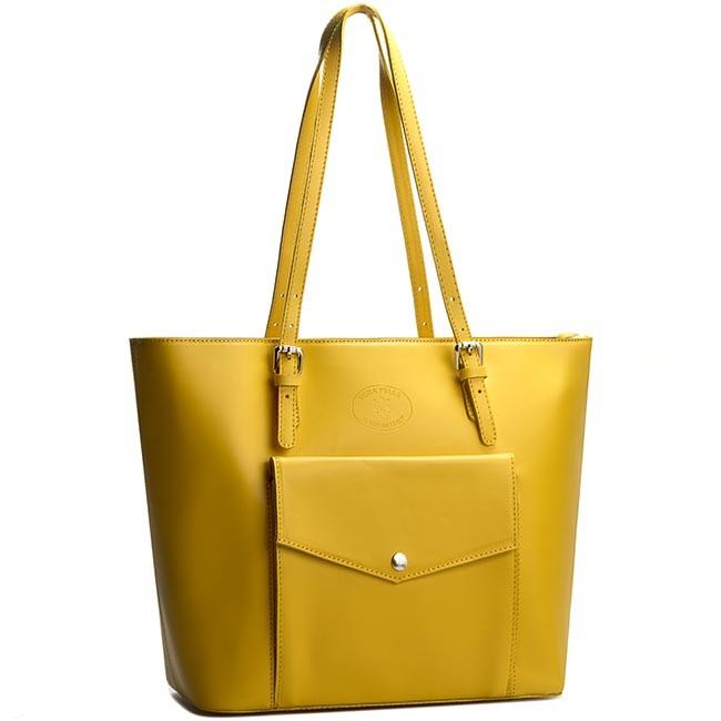 Handbag CREOLE - K10240 Żółty
