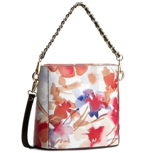 Handbag CREOLE - K10228 Kwiaty Czerwony