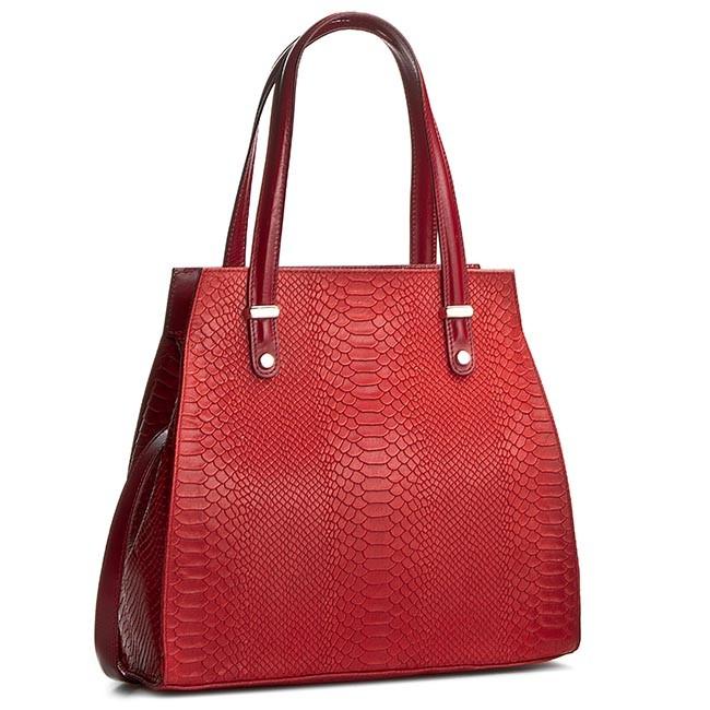 Handbag CREOLE - K10245 Czerwony Krok.