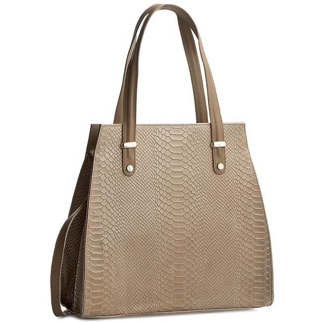 Handbag CREOLE - K10245 Ciemny Beż Krok.
