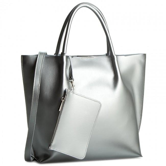 Handbag CREOLE - RBI1214 Srebrny