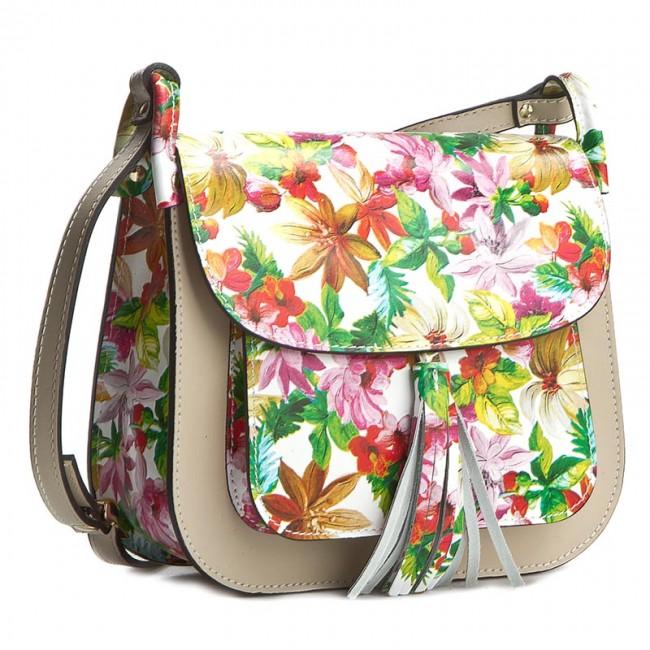 Handbag CREOLE - K10197 Kwiaty Beż