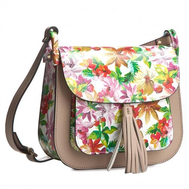 Handbag CREOLE - K10197 Kwiaty/Purowy Róż