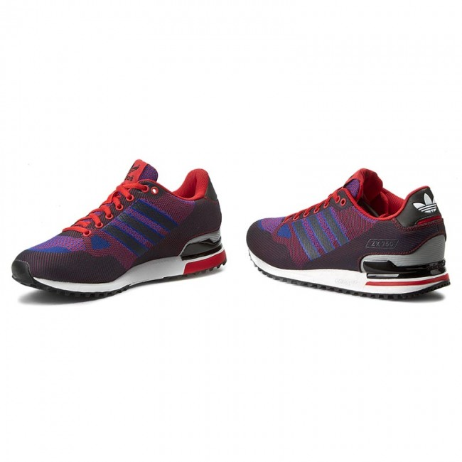 new product 7880a 725ca Shoes adidas - Zx 750 Wv S79199 Navy Blue Red