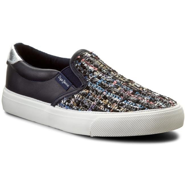 Plimsolls PEPE JEANS - Traveler Slipon Girl PGS30204 Ace Blue 590