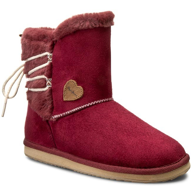 Shoes PEPE JEANS - Angel Lace PGS50081 Burgundy 299