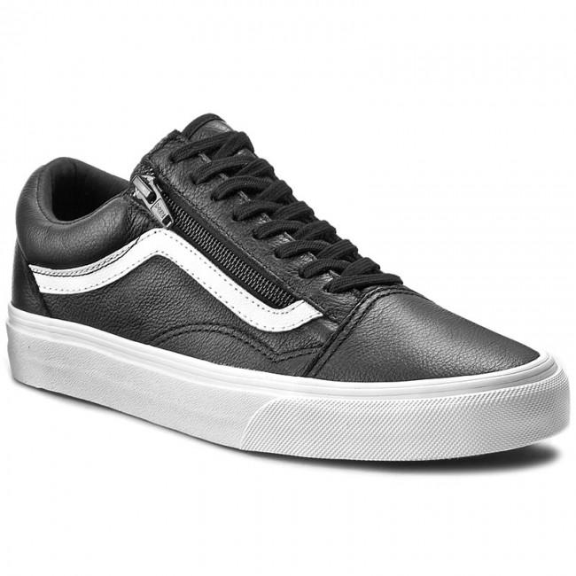 vans mens premium leather old skool zip sneaker
