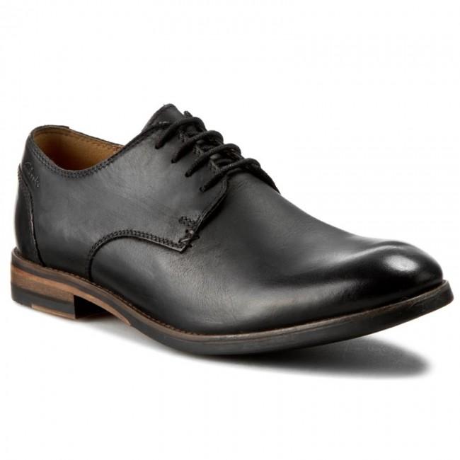 Shoes CLARKS Exton Walk 261077437 Black Leather