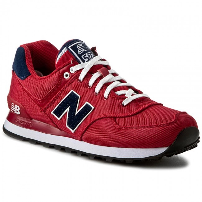 New Balance ML574POR: Classic 574 Pique Polo Pack RED Casual Running Sneaker MEN