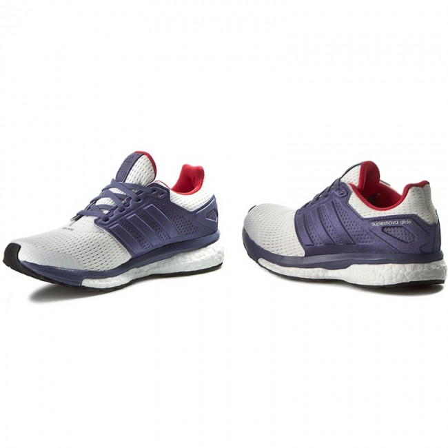 Economic Popular Adidas Supernova Glide 4 Purple White Shoes