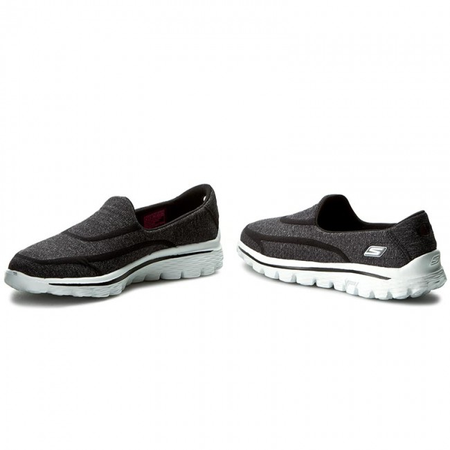 SKECHERS Go Walk 2 Super BlackWhite | Shoetique.co.uk