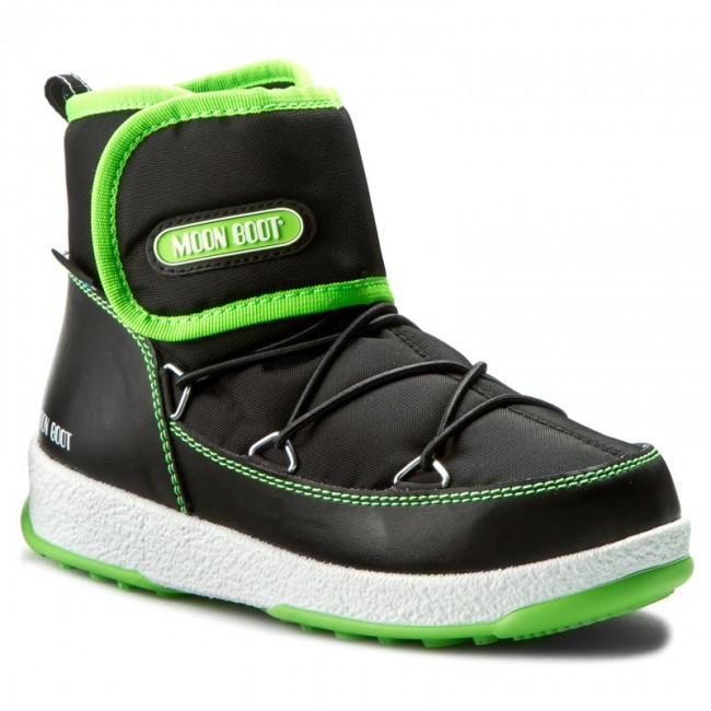 Snow Boots MOON BOOT - W.E. Jr Strap Wp 34050900004 Nero/Verde Acido