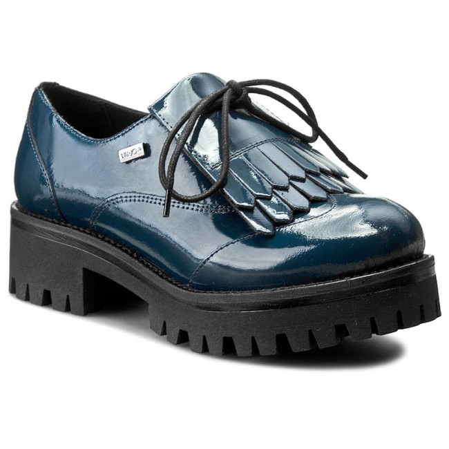 Oxfords LIU JO - Allacciata C/Frange S66073 P0131 Dress Blue 94024