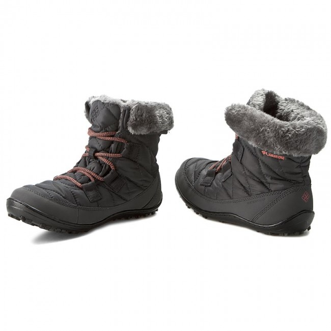 Columbia Youth Minx Shorty Omni Heat Waterproof Boot Girls 5 Black Winter Snow