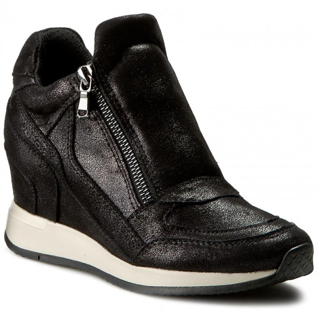 Sneakers GEOX wedge suede boots, Women's Fashion, Shoes on