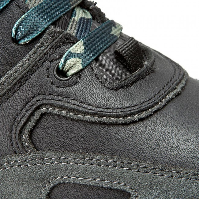 Sneakers GEOX U Sandro B Abx A U44S7A 022FU C9270 CzarnyAntracyt