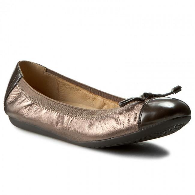 genio Arrestar Espejismo  Flats GEOX - D Lola 2Fit C D643DC 0KYBC C9H6J Lead/Chestnut - Ballerina  shoes - Low shoes - Women's shoes | efootwear.eu