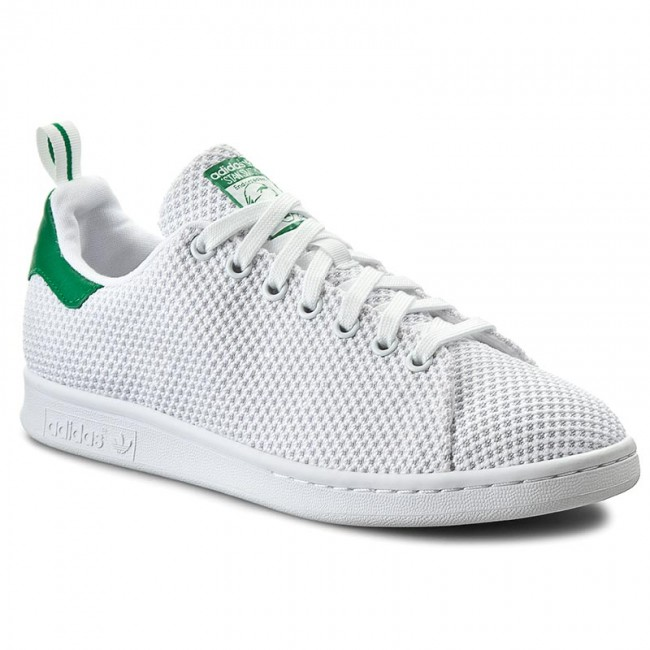 Shoes adidas - Stan Smith CK S80047 Ftwwht/Ftwwht/Green