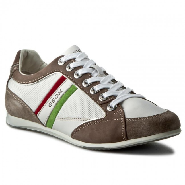 diamante Elasticidad Tomate  Sneakers GEOX - U Andrea P U01Z2P 04622 C1547 Biały/Jasny Brąz - Casual -  Low shoes - Men's shoes | efootwear.eu