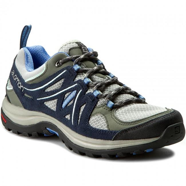 Trekker Boots SALOMON Ellipse 2 Aero W 379206 20 W0 TitaniumDeep BluePetuna Blue