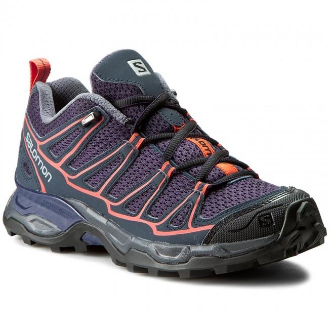 Trekker Boots SALOMON X Ultra Prime W 391843 20 M0 Nightshade GreyDeep BlueCoral Punch