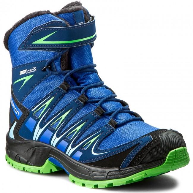 Hiking Boots SALOMON Xa Pro 3D Winter Ts Cswp J 390290 09 M0 Blue YonderBlue DepthPeppermint