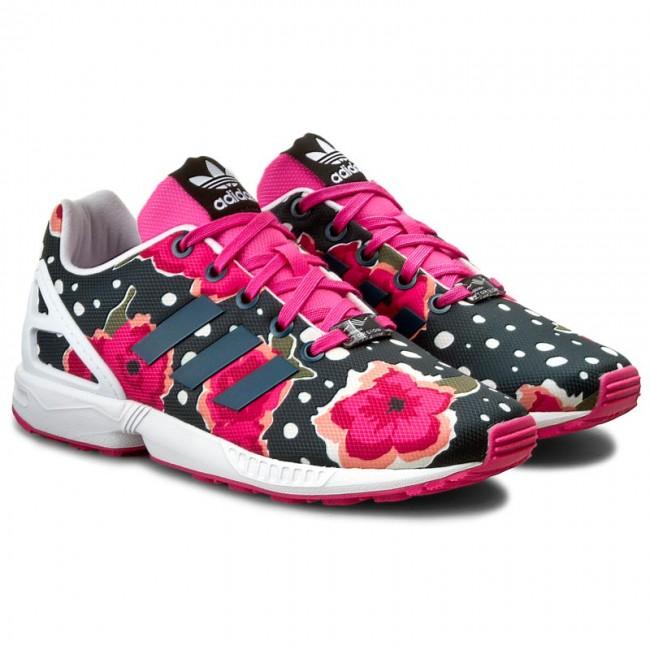 Adidas Zx Flux J Girls Kids Trainers Floral Dotty Multi