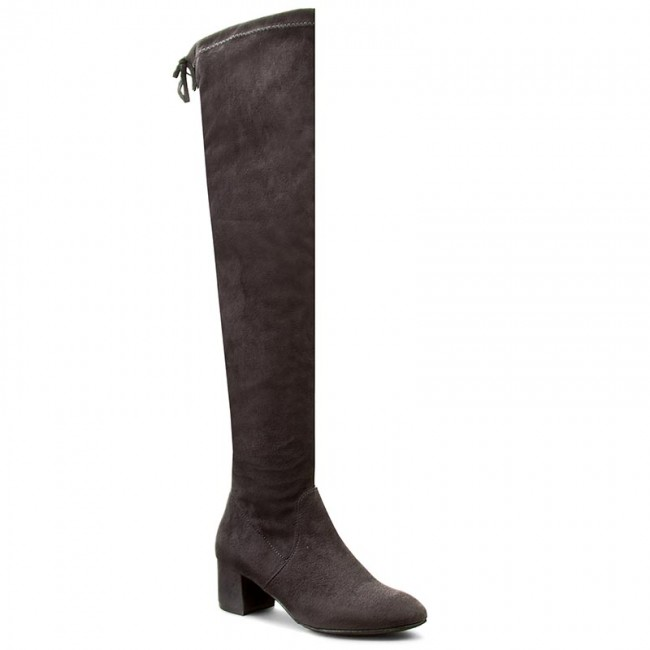 Over-Knee Boots NESSI - 882/N Szary Sz