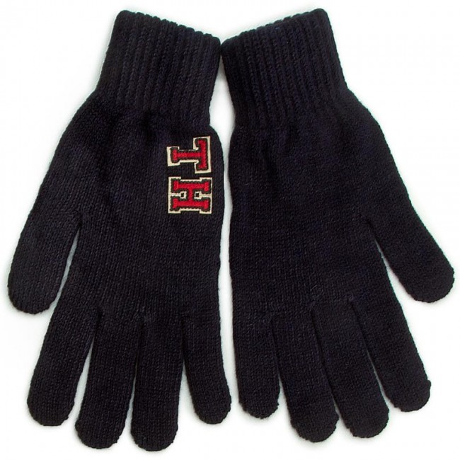 Women's Gloves TOMMY HILFIGER - TH Patch Gloves Solid AW0AW03342 S/M 902