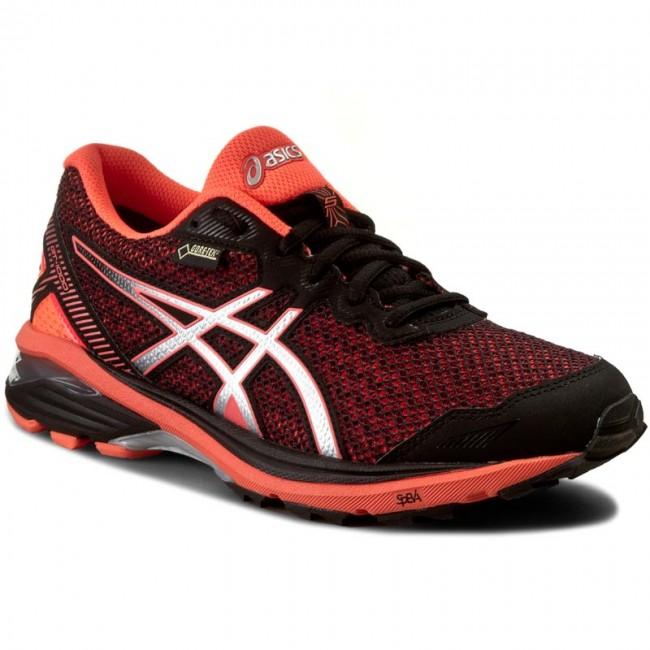 Shoes ASICS GT 1000 5 G TX T6B8N BlackSilverFlash Coral 9093