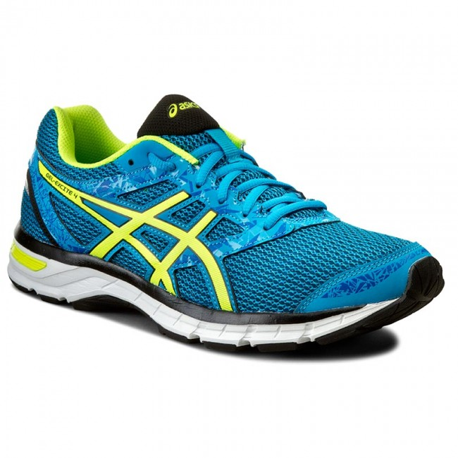 Shoes ASICS - Gel-Excite 4 T6E3N Island Blue/Safety Yellow/Black 4107