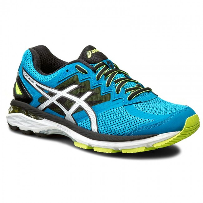Shoes ASICS - GT-2000 4 T606N Blue Jewel/Black/Safety Yellow 4390