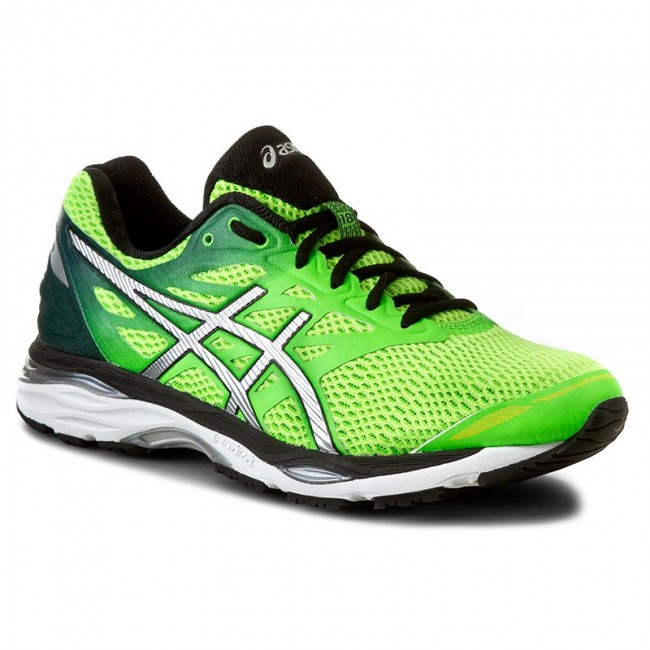 ASICS Asics Men's Gel Cumulus 18 Green Gecko Silver Safety Yellow Ankle High Running Shoe 14M