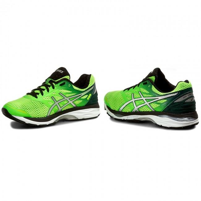 Shoes ASICS Gel Cumulus 18 T6C3N Green GeckoSilverSafety Yellow