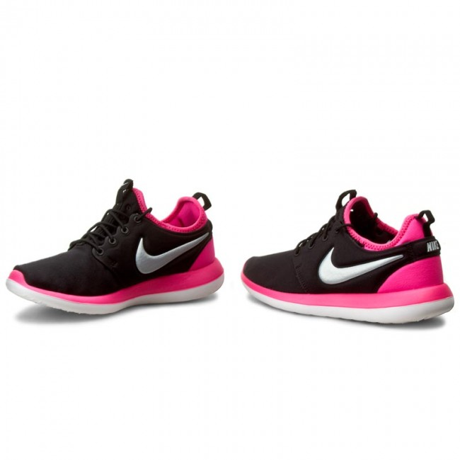 Shoes NIKE Roshe Two (GS) 844655 001 BlackMtlc PlatinumHyper Pink