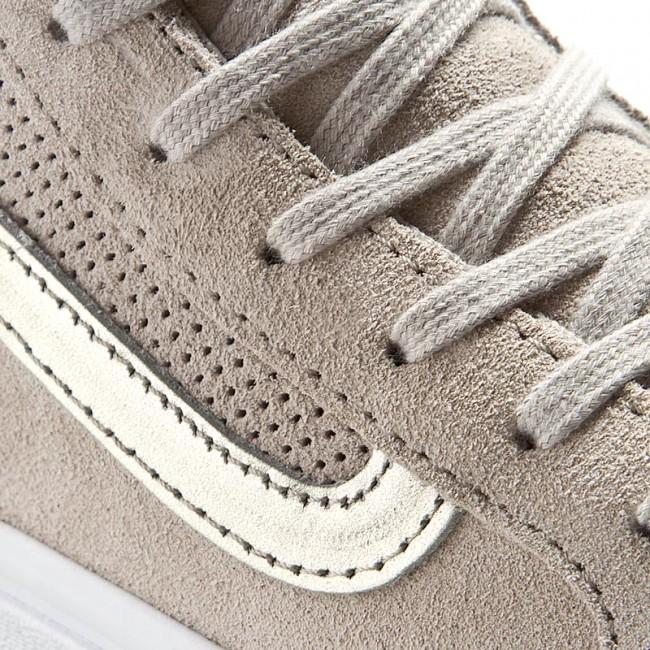 Sneakers VANS Sk8 Hi Slim Cutout VN004KZJRF (Perf Suede) Silver Cloud