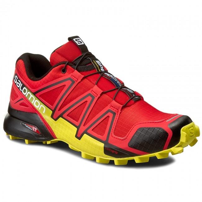 Shoes SALOMON Speedcross 4 381154 27 V0 Radiant RedBlackCorona Yellow