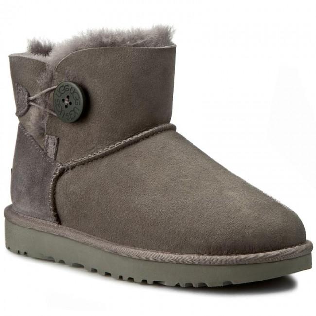 Shoes UGG - W Mini Bailey Button II 1016422 W/Grey