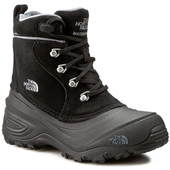 b69710cf3 Snow Boots THE NORTH FACE - Youth Chilkat Lace II T92T5RKZ2 TNF Black/Zinc  Grey