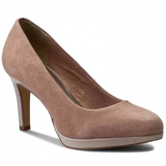 shoes tamaris 1 22428 28 old rose heels low shoes. Black Bedroom Furniture Sets. Home Design Ideas
