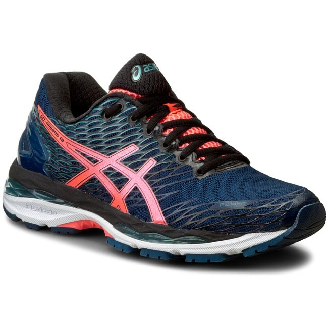 Shoes ASICS Gel Nimbus 18 T650N PoseidonFlash CoralBlack 5806