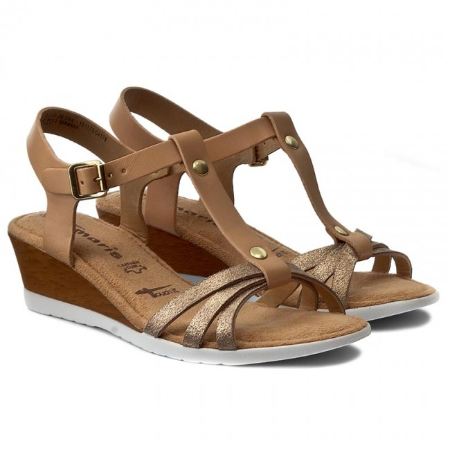 sandals tamaris 1 28218 28 nature lt gold 394 casual sandals sandals mules and sandals. Black Bedroom Furniture Sets. Home Design Ideas