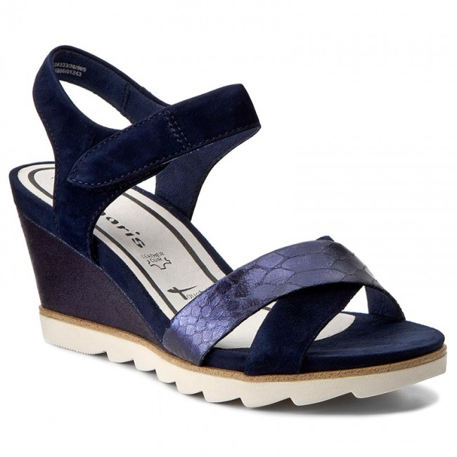 Sandals TAMARIS 1 28333 28 Navy 805 Wedges Mules and