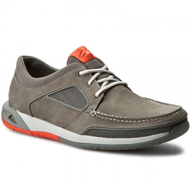 af2a205be96f2 Shoes CLARKS - Ormand Sail 261252807 Dark Grey Nubuck - Casual - Low shoes  - Men's shoes - efootwear.eu