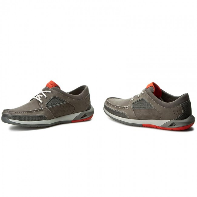 ed6054a172135 Shoes CLARKS - Ormand Sail 261252807 Dark Grey Nubuck - Casual - Low ...