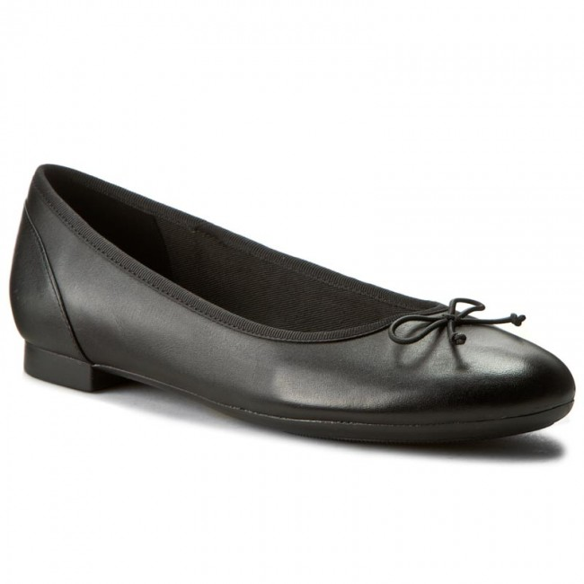 Flats CLARKS Couture Bloom 261154854 Black Leather