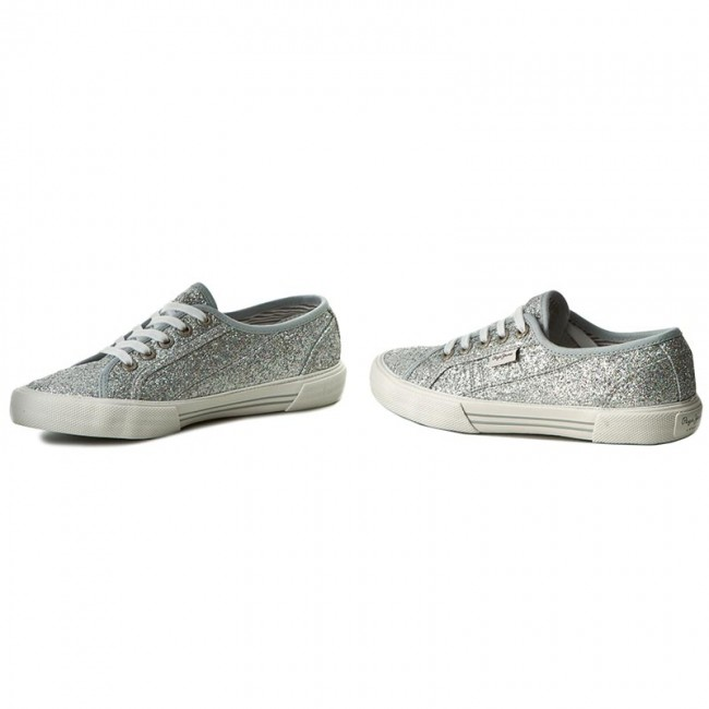 big sale ad430 30d52 Plimsolls PEPE JEANS - Aberlady Flash PLS30498 Silver 934