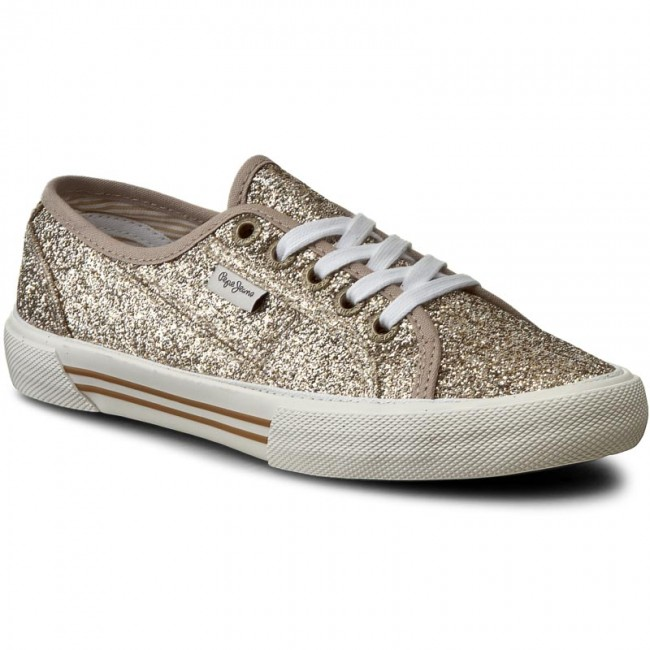 uk availability 1e7bb ae640 Plimsolls PEPE JEANS - Aberlady Flash PLS30498 Gold 099