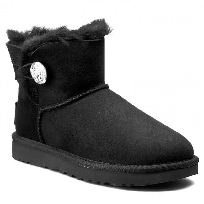 4ea58a7e83c Shoes UGG - W Mini Bailey Button Bling 1016554 W/Blk