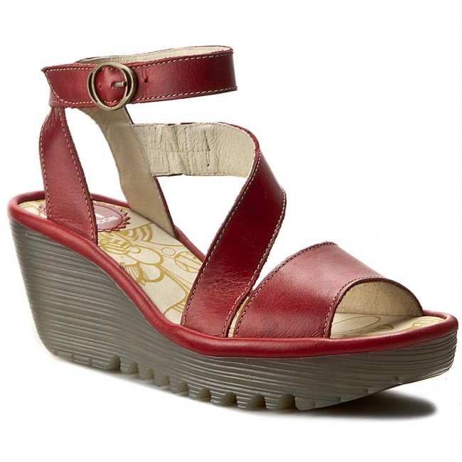 4a9af37e Sandals FLY LONDON - Yesk P500526002 Red - Casual sandals - Sandals - Mules  and sandals - Women's shoes - efootwear.eu